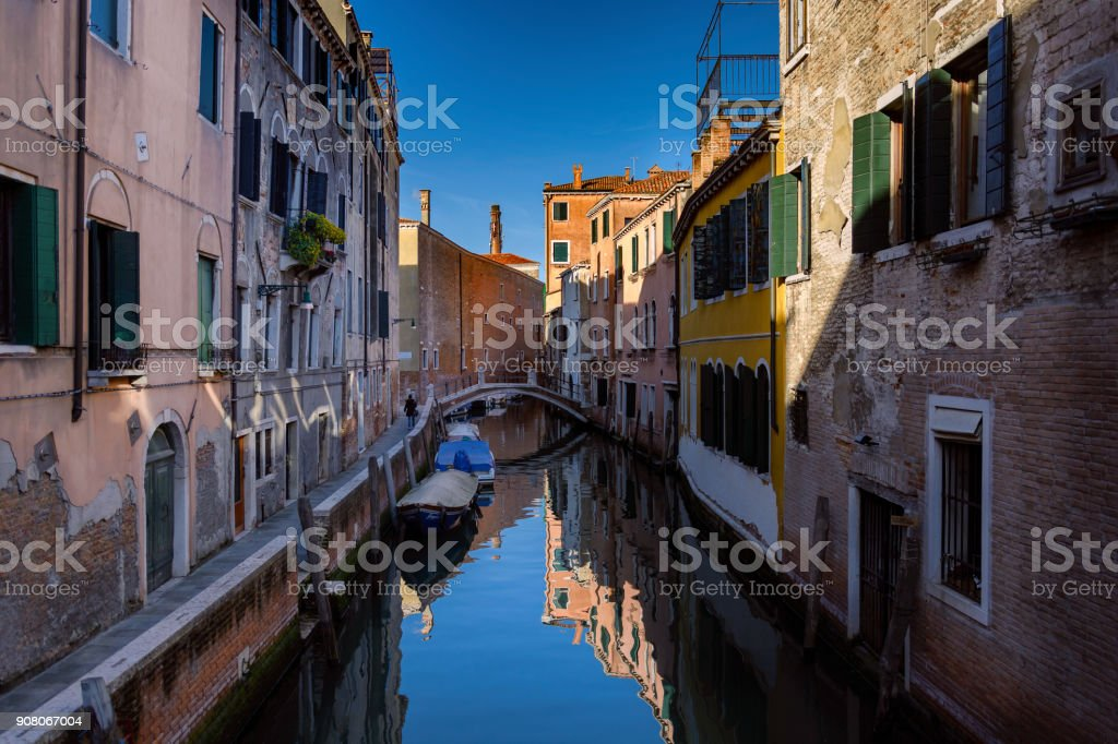 One among numerous hidden gems of Venice. So many bridges in venice . At every corner you find one romantic photo opportunity stock photo