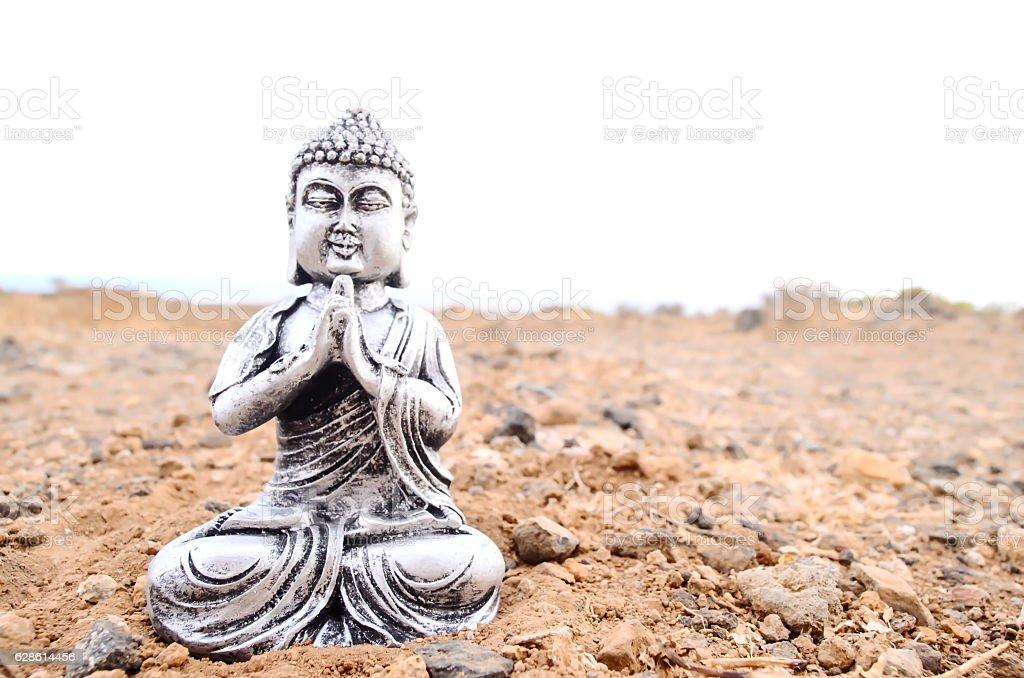 One Ancient Buddha Statue stock photo