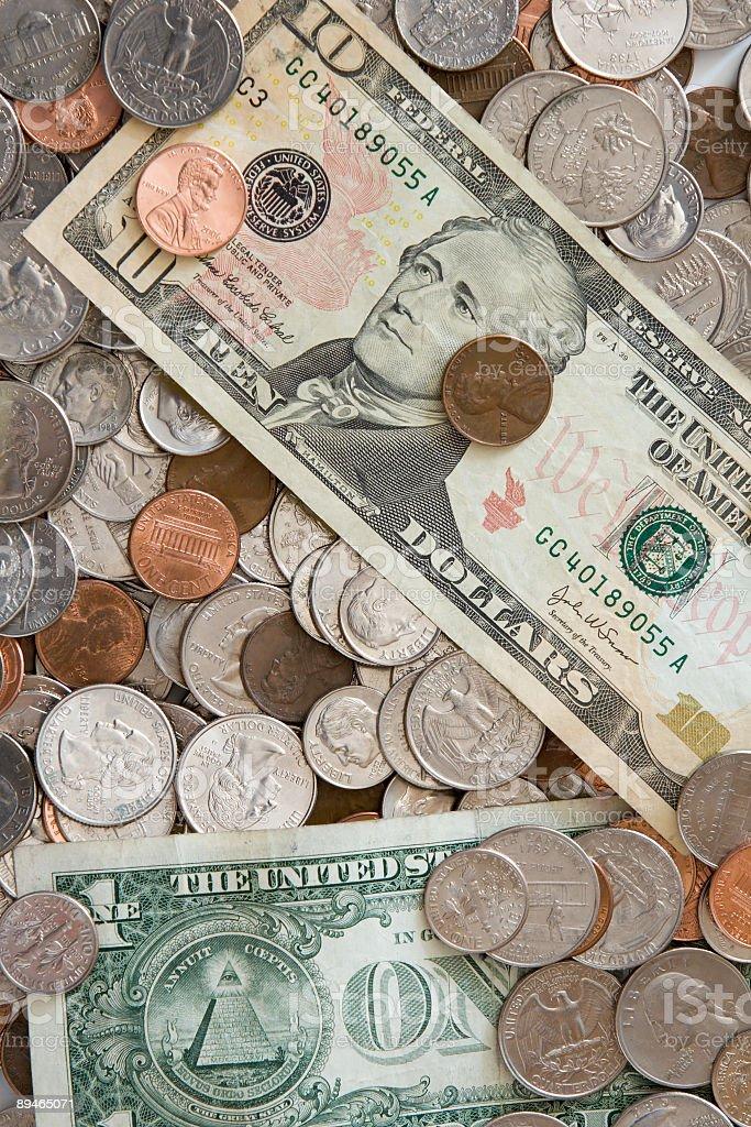 Les Dollars et les Cents photo libre de droits