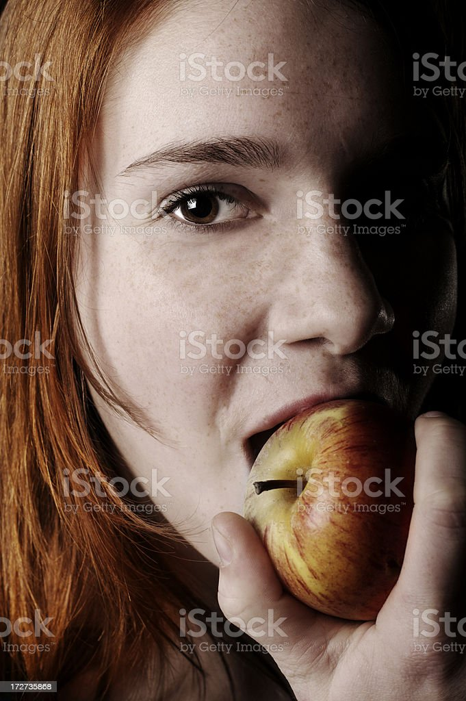 One apple a day, keeps the doctor away! stock photo