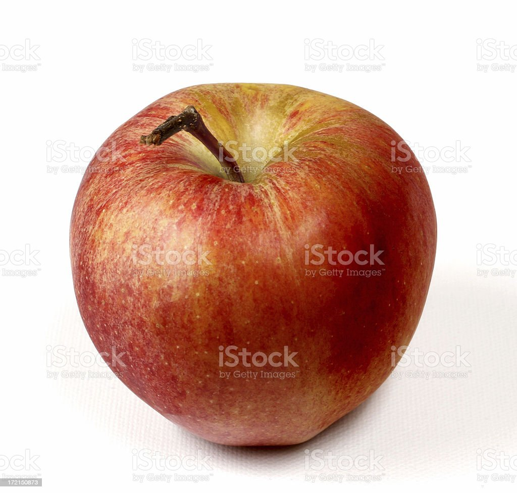One Apple royalty-free stock photo