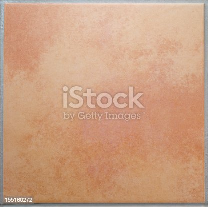 Cloudy, mottled patterned square floor tile, ceramic, surrounded by a gray tile joint or grouting. Red and sandy colored. Italian style. Texture with a marbled effect.High resolution image. Ideal for backgrounds. Square orientation. The dimensions of the photo are 3560 px x 3553 px