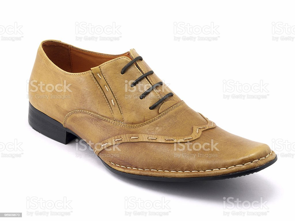 One beige shoe royalty-free stock photo