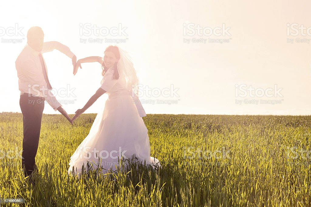 One Big Heart for two stock photo