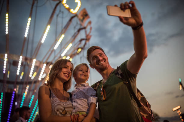 one big smile - concert selfie stock photos and pictures