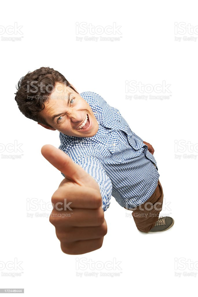 One BIG thumbs up to you! royalty-free stock photo