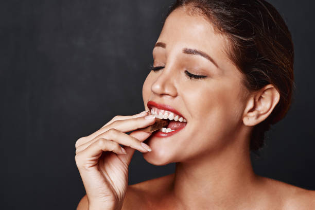 One bite can make your entire day stock photo