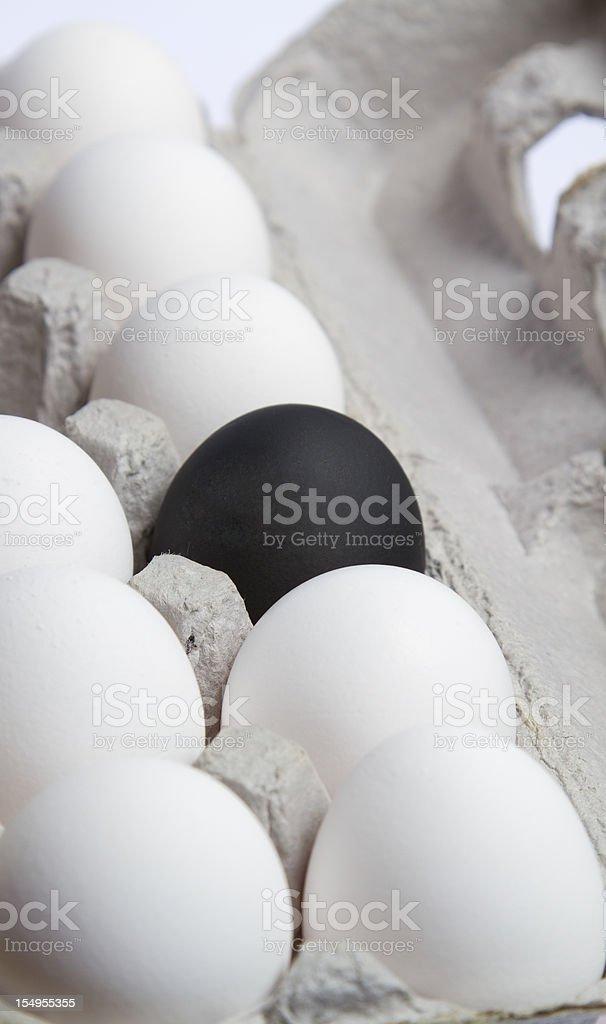 One black egg royalty-free stock photo