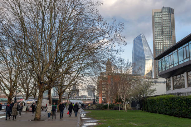One Blackfriars and the South Bank Tower stock photo
