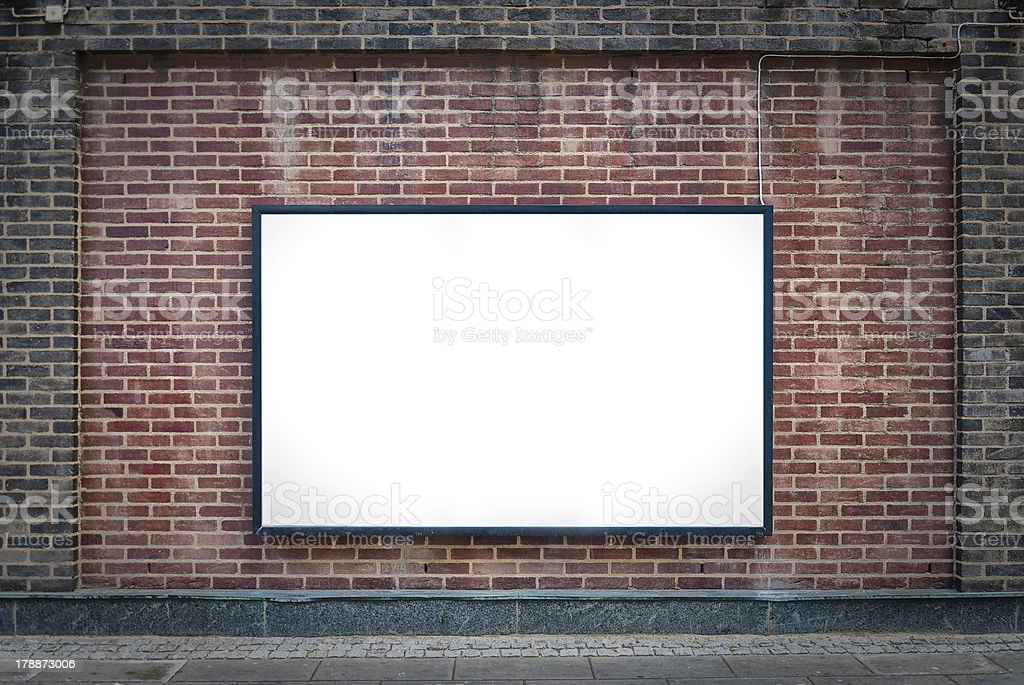 one blank board stock photo