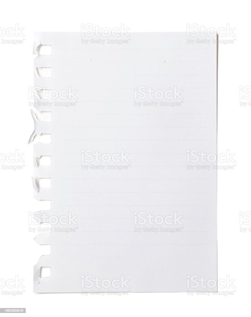 One Blank Paper Page stock photo