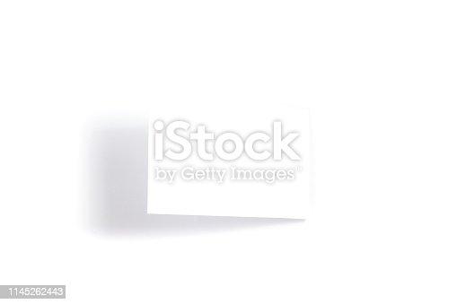istock One blank white postcard / flyer / invitation mock-up on white background 1145262443