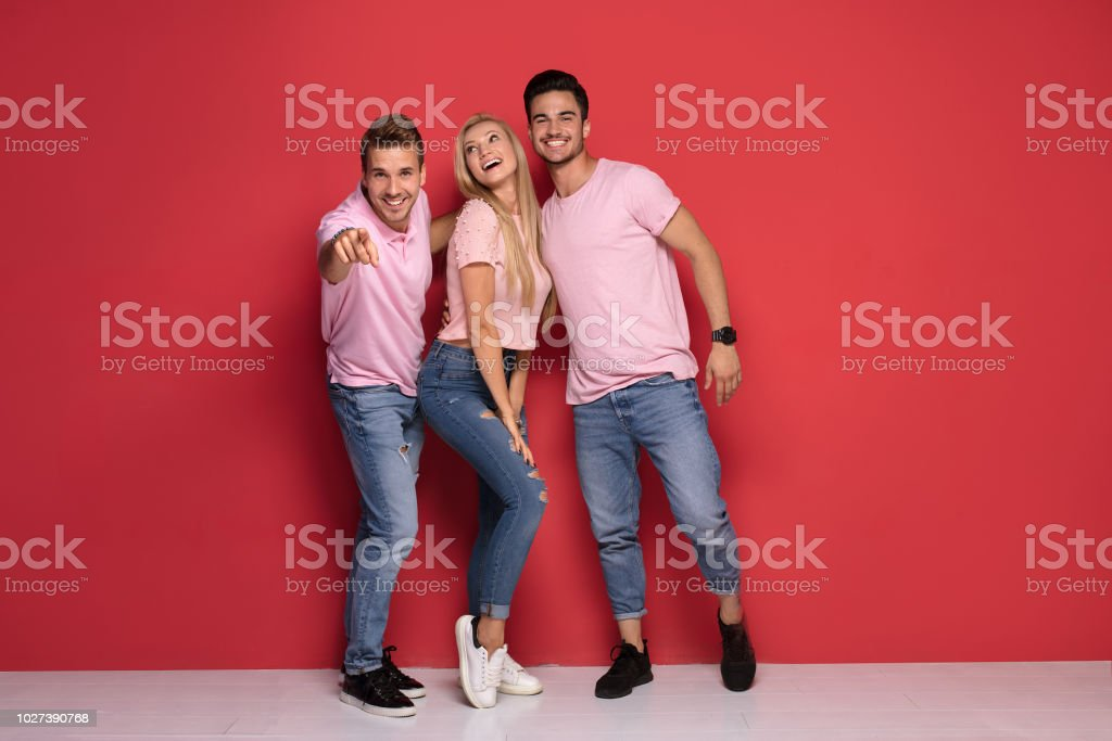 Three Guys One Girl Pictures Images And Stock Photos