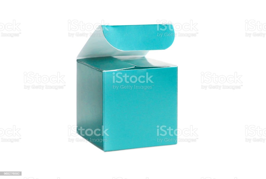 One blue open box zbiór zdjęć royalty-free