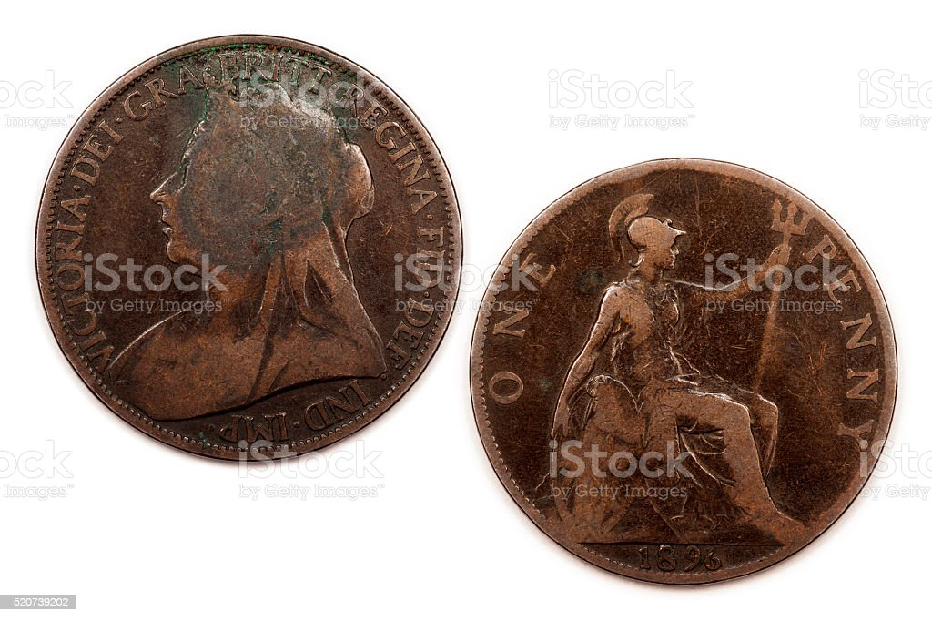 One British Penny 1896 stock photo