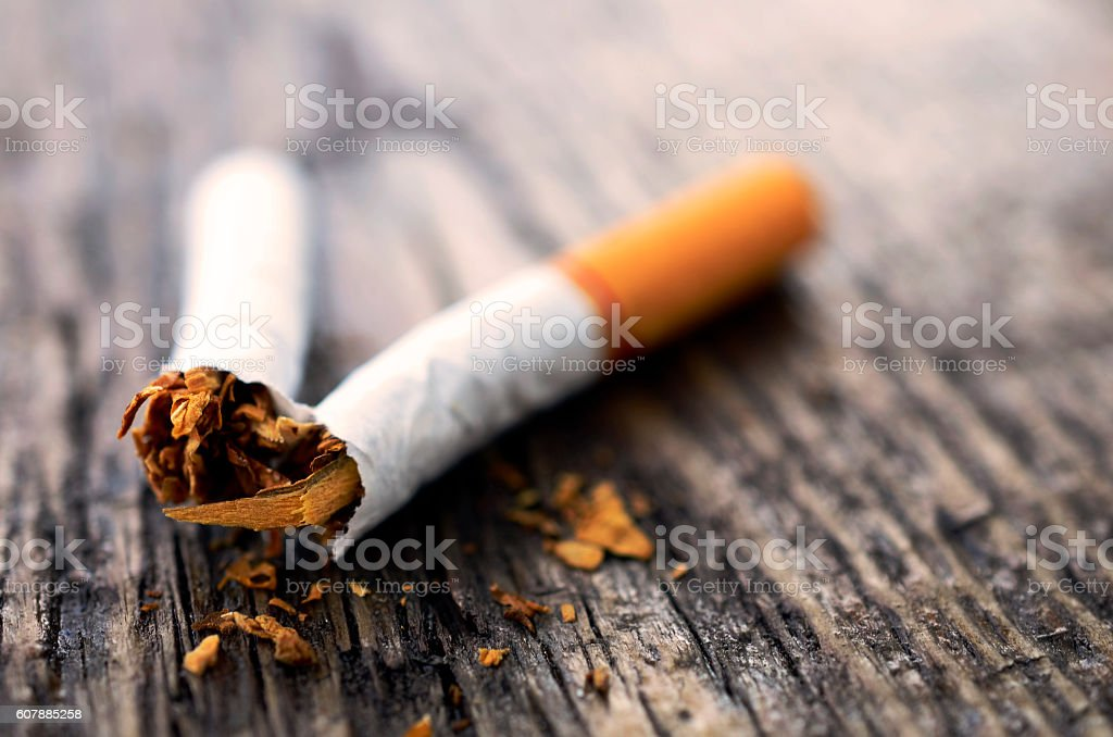 One Broken Cigarette stock photo