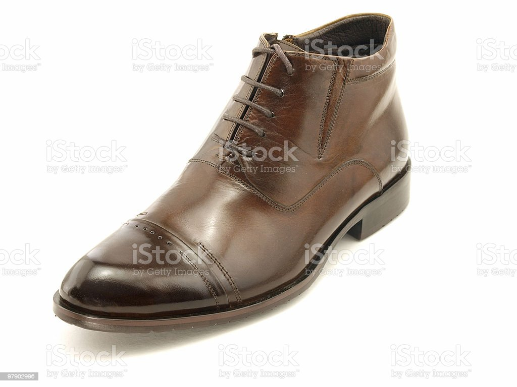 One brown shoe royalty-free stock photo