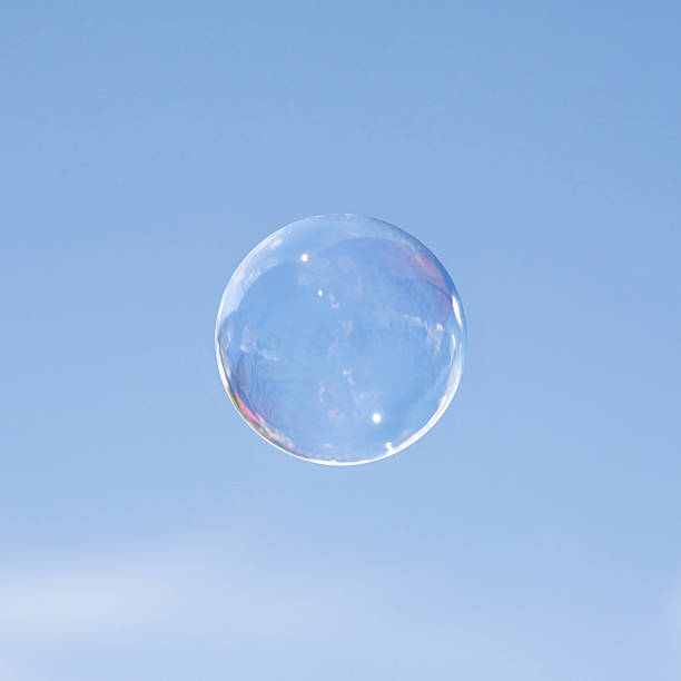 One Bubble Against a Blue Sky stock photo