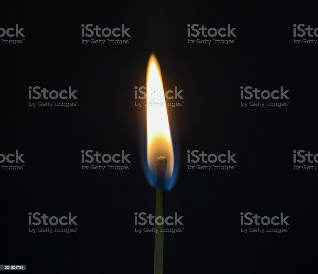 One burning match Lizenzfreies stock-foto
