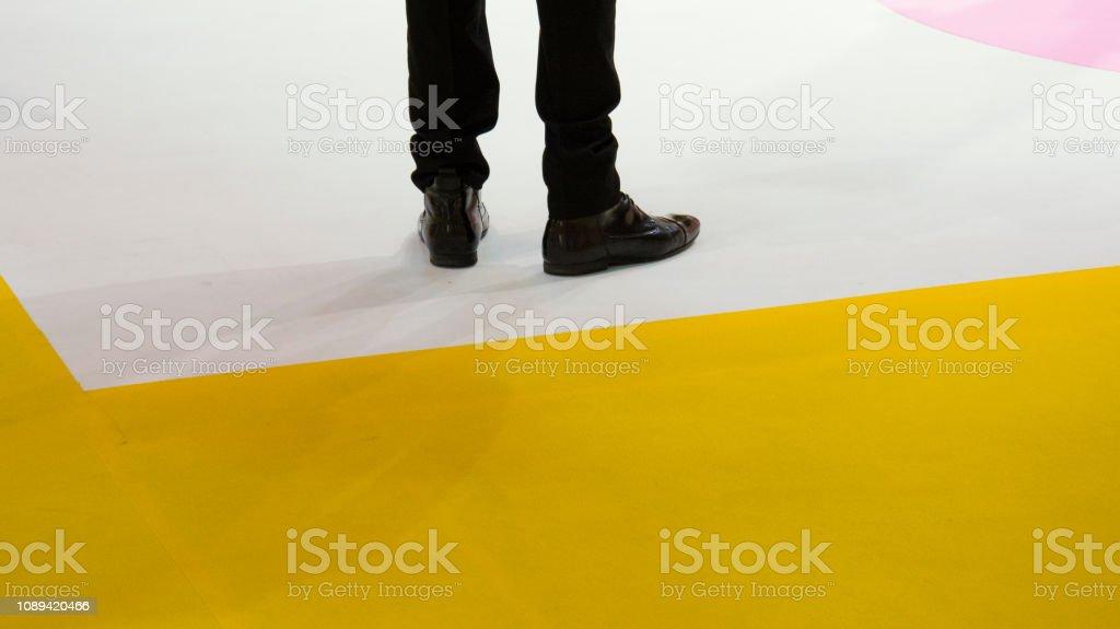 One Business Man Waiting stock photo