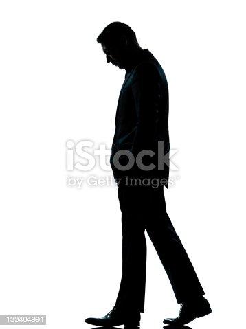 One Business Man Walking Looking Down Silhouette Stock ...   358 x 479 jpeg 27kB