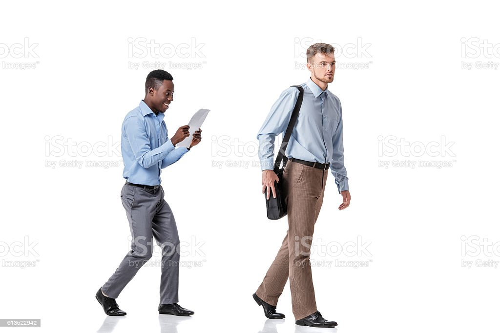 one businessman stole from other documents stock photo