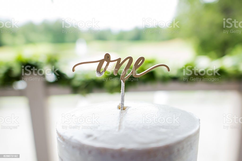 One Cake Topper stock photo