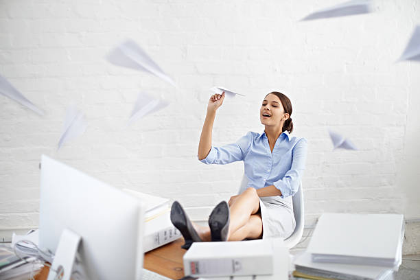 one can only take so much... - paper airplane stock photos and pictures