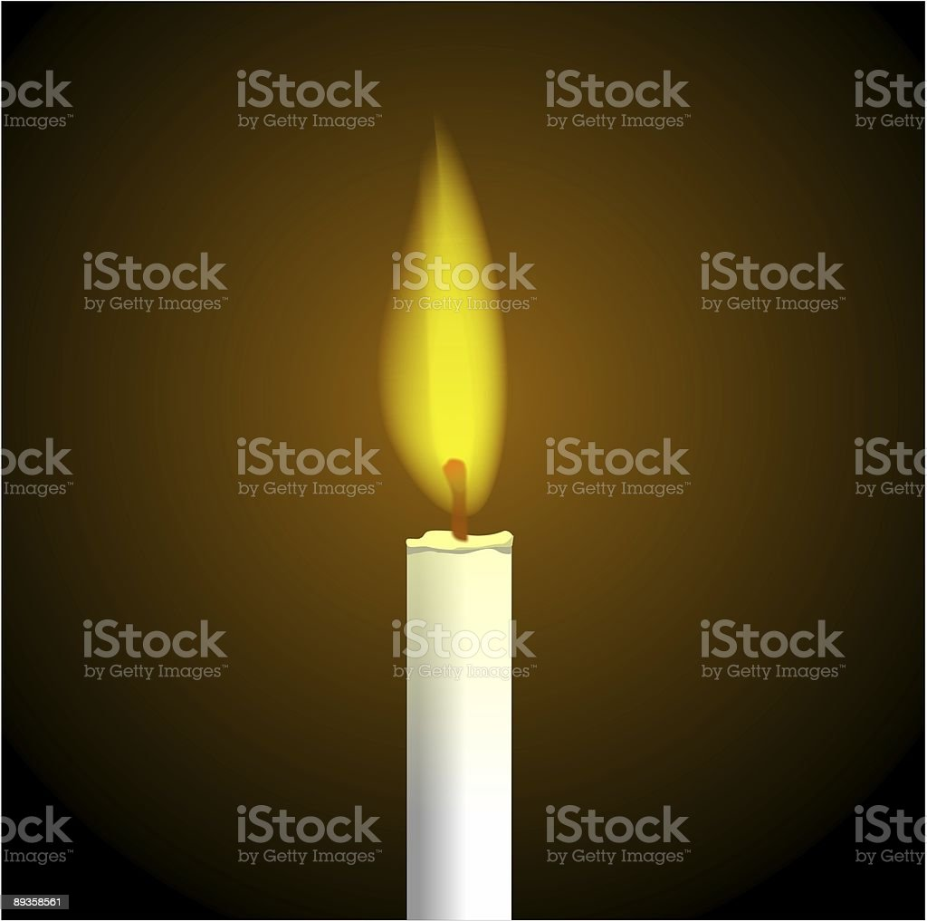 One Candle Flame Burning royalty free stockfoto