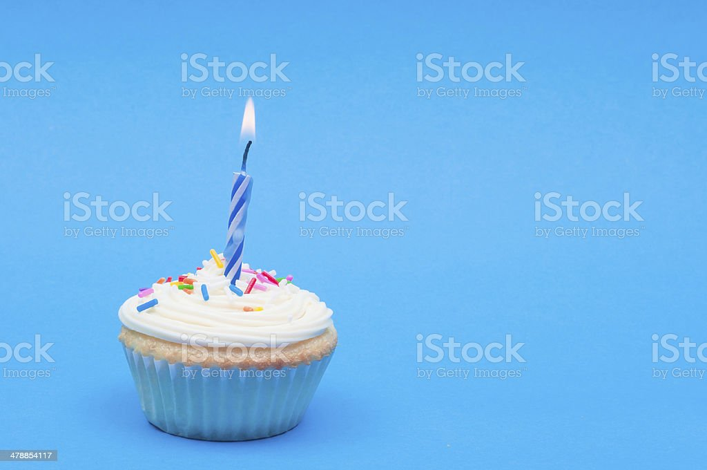 One Candle royalty-free stock photo
