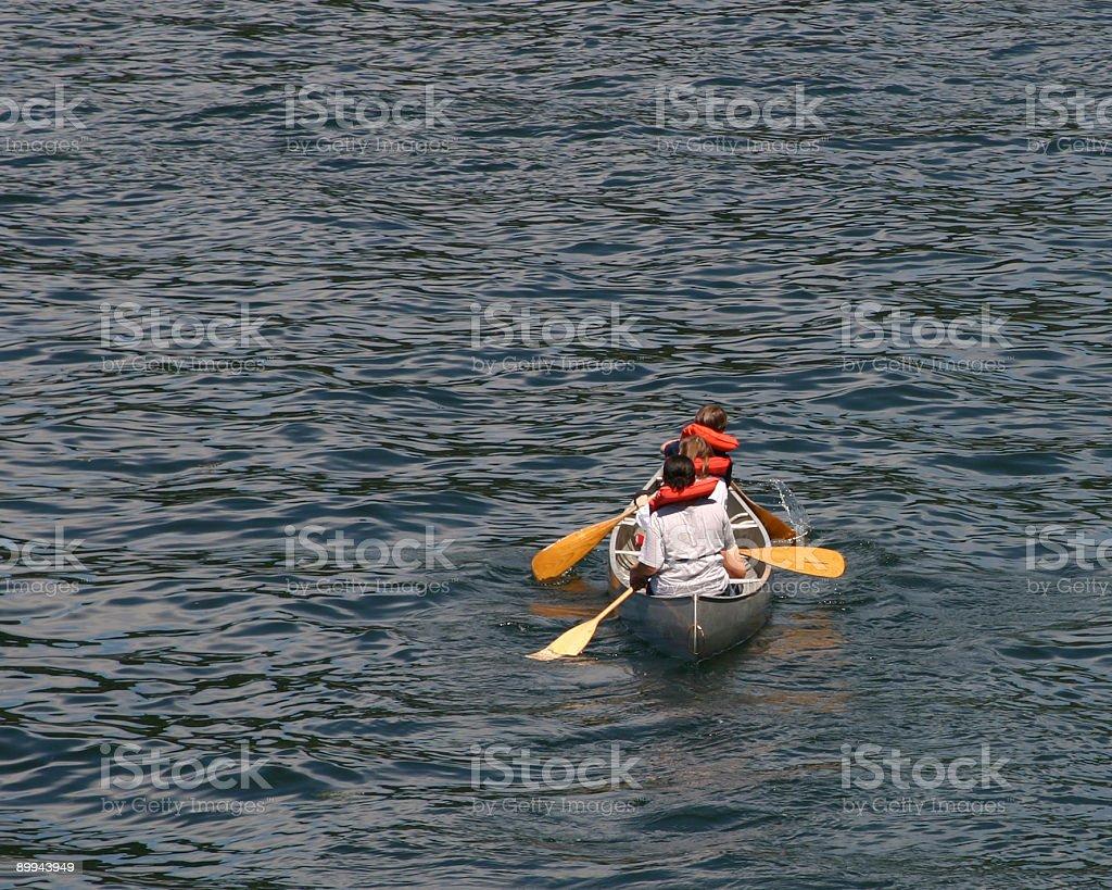 One Canoe stock photo