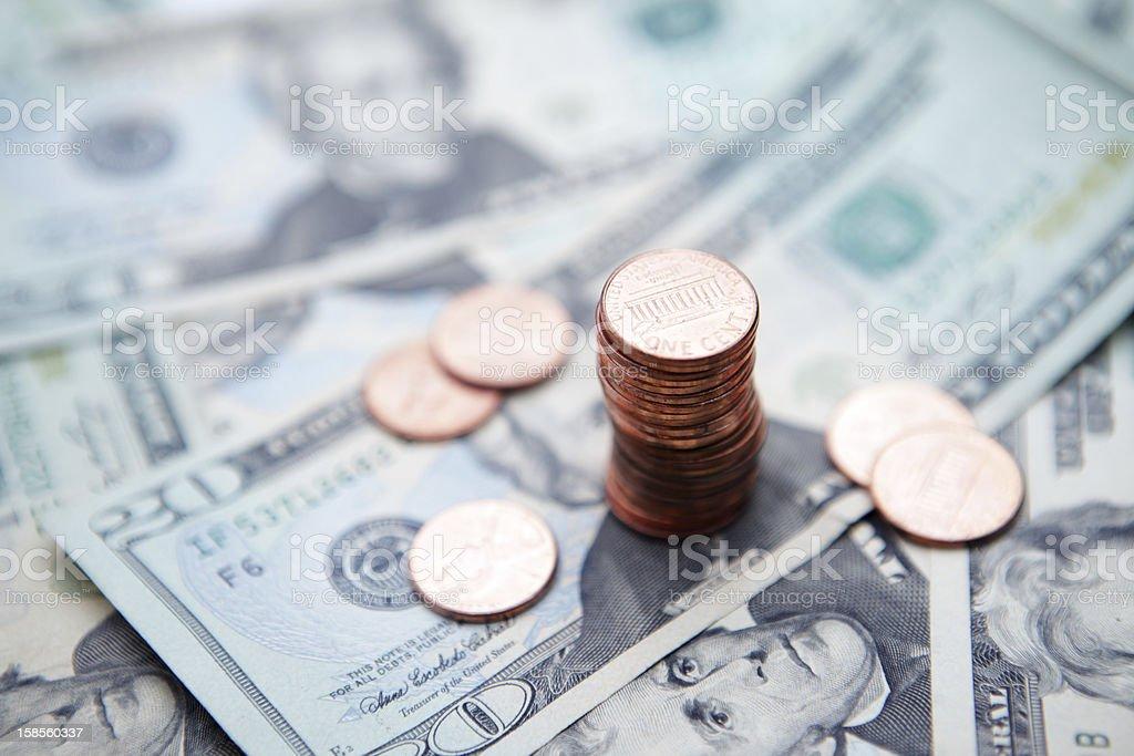 1 센트 conts royalty-free 스톡 사진