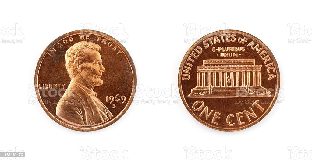 One Cent royalty-free stock photo