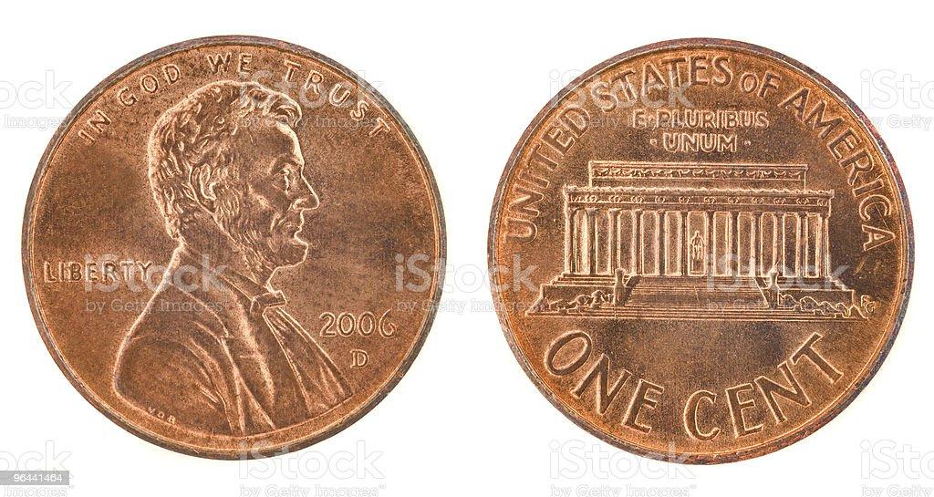 Um cent - Foto de stock de Andando para Trás royalty-free