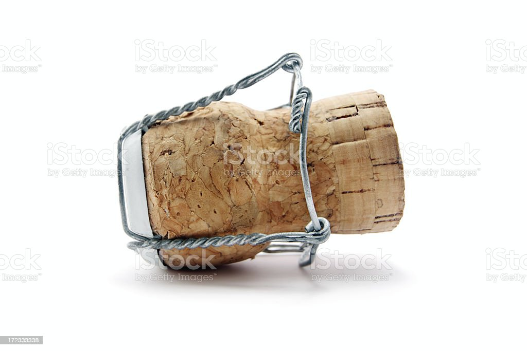 One Champagne cork (serie of images) royalty-free stock photo