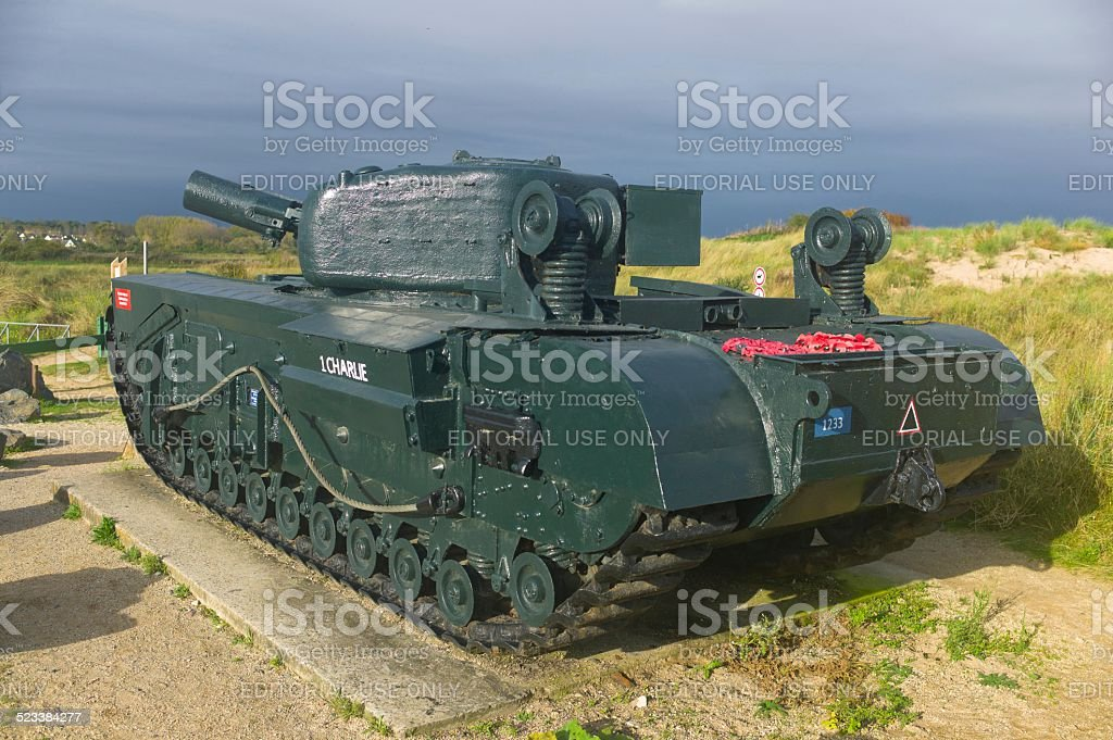 One Charlie Tank - Normandy D-Day Landings stock photo