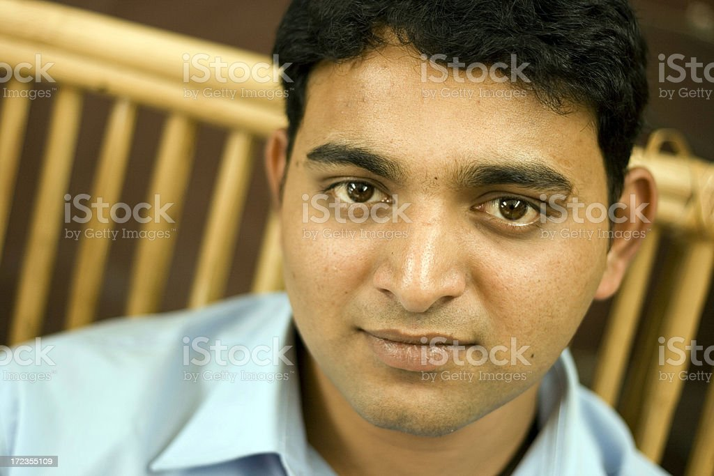 One Cheerful Indian Asian Youth Male Joyful People Horizontal Outdoor royalty-free stock photo