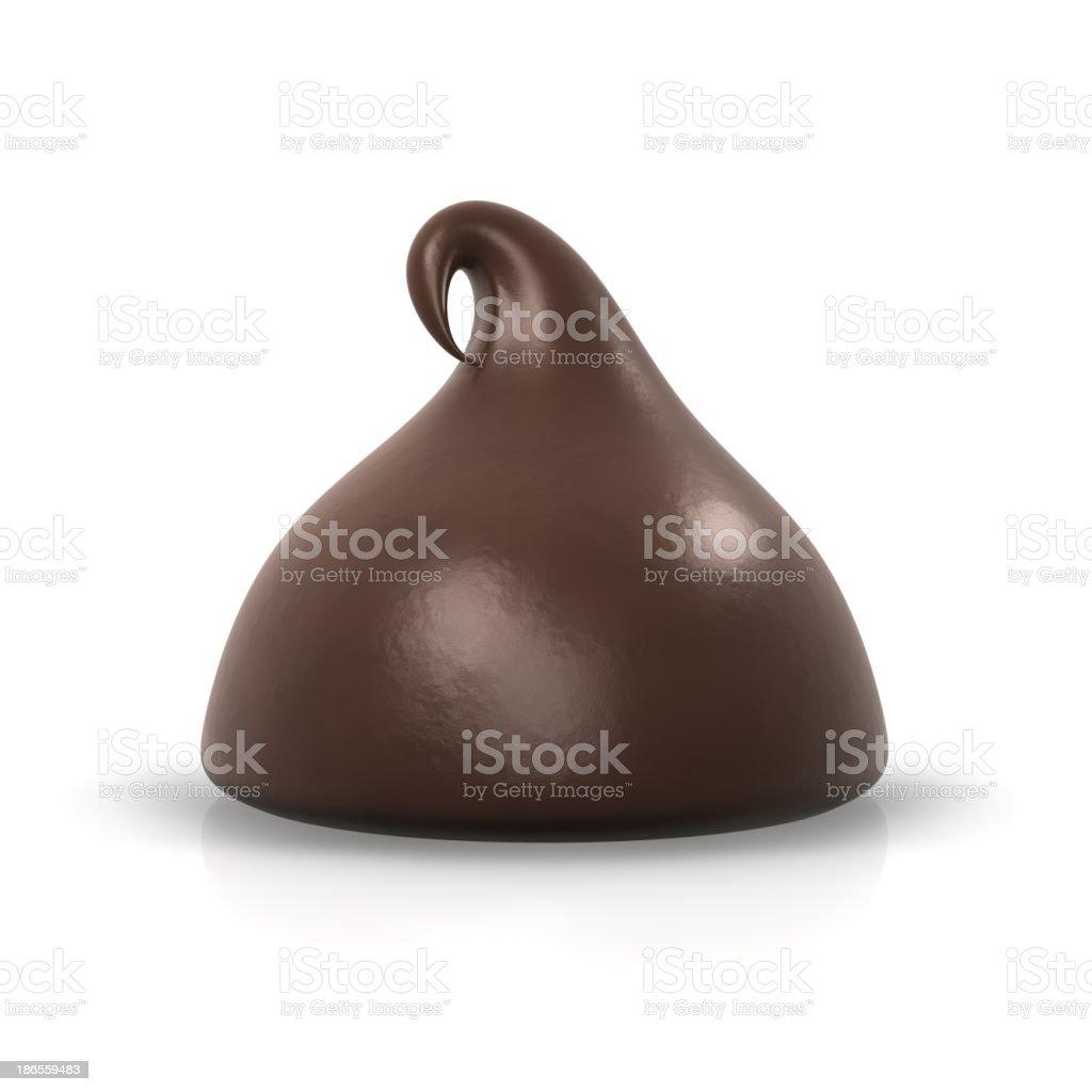 One chocolate chip stock photo