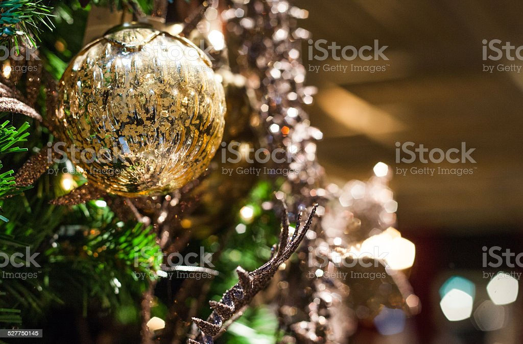one christmas ball stock photo