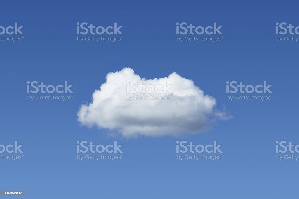 One cloud among blue sky royalty-free stock photo