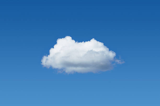 One cloud among blue sky Only one cloud among the blue sky single object stock pictures, royalty-free photos & images