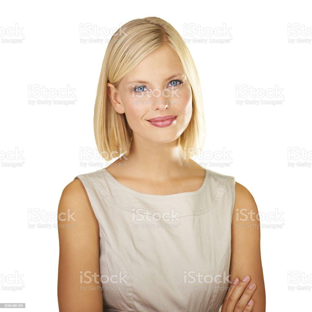 One confident woman! stock photo