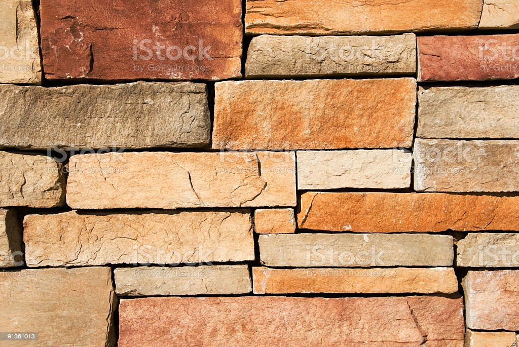 One credit only - Stone wall royalty-free stock photo