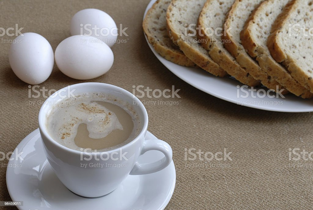 One cup of cofee royalty-free stock photo