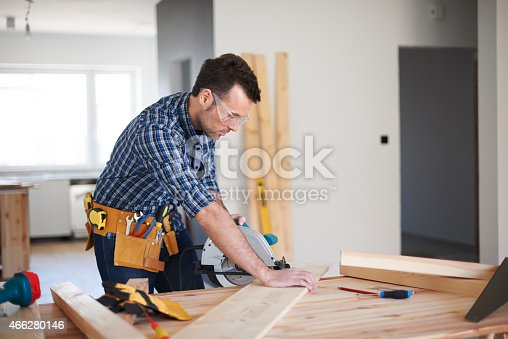 istock One day from work of carpenter 466280146