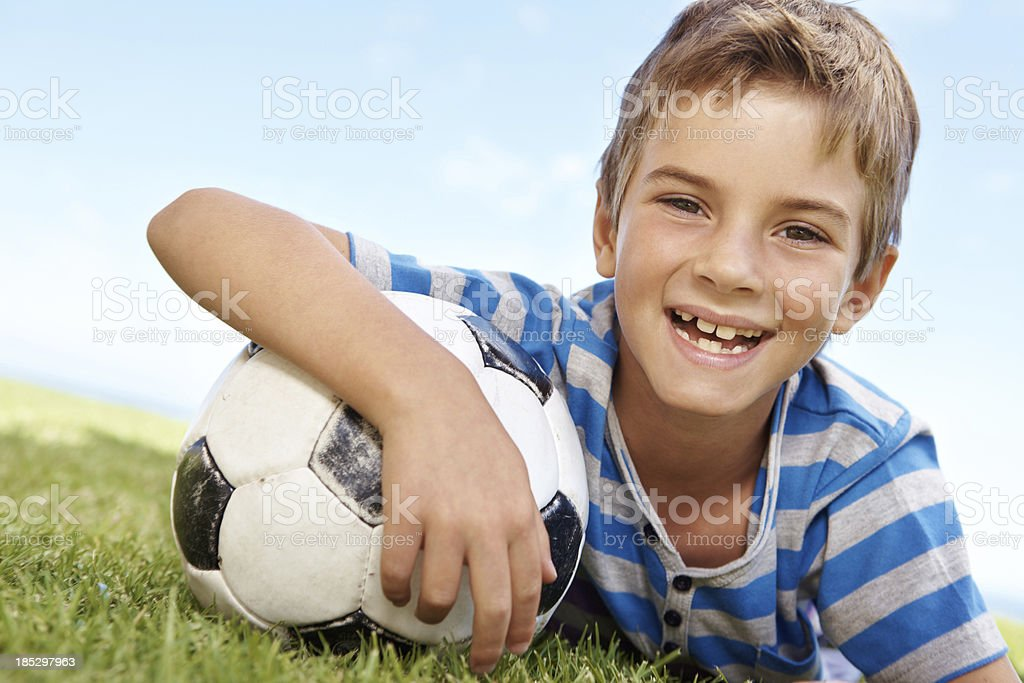 One day I'll be a big sports star royalty-free stock photo