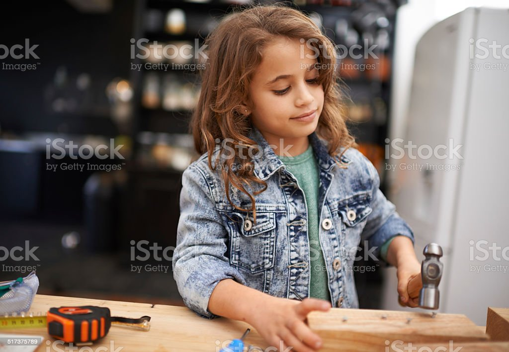 One day I'm going to be a great inventor stock photo