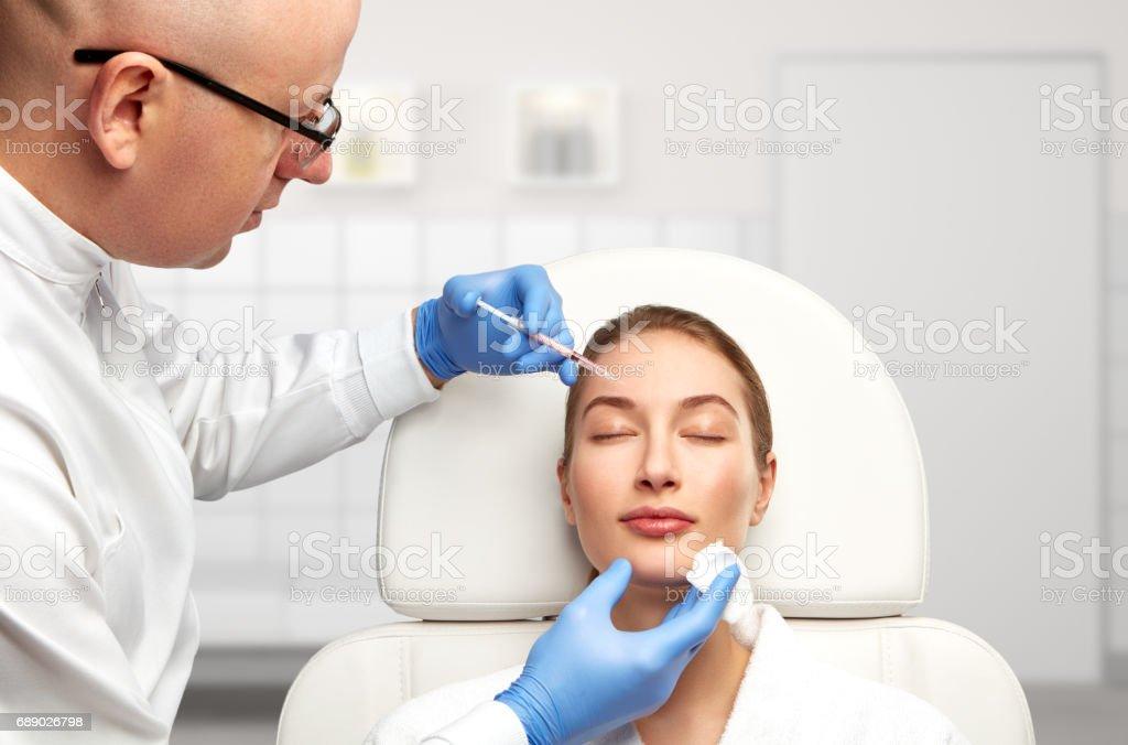 Un día en la clínica de medicina estética - foto de stock