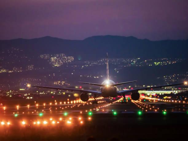one day of osaka international airport - lądować zdjęcia i obrazy z banku zdjęć