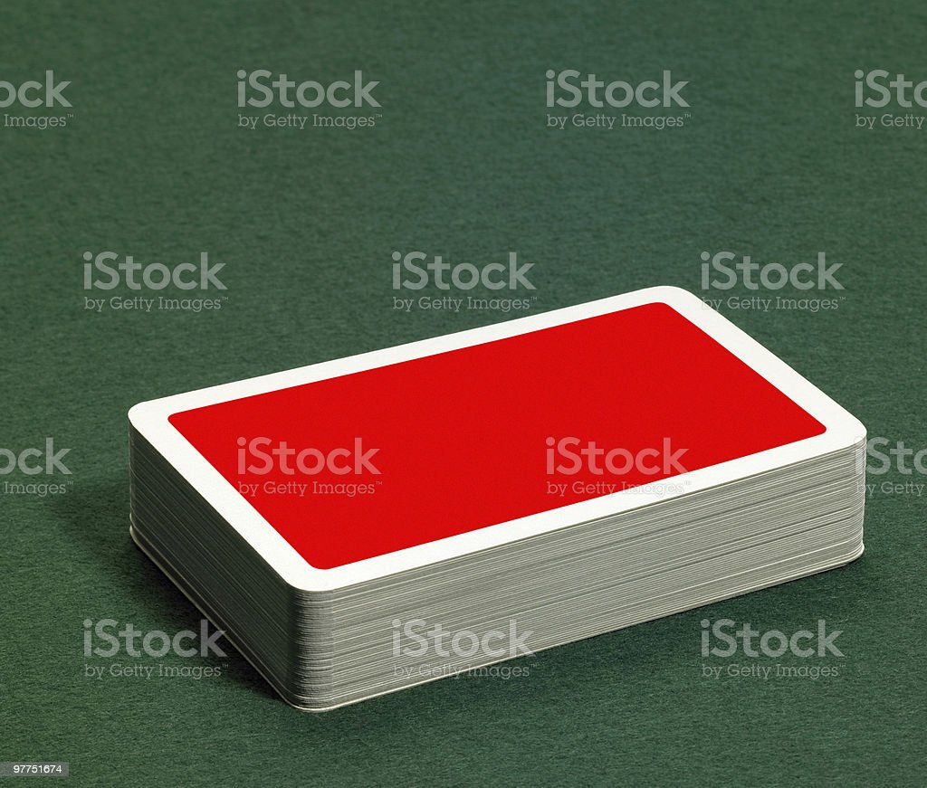 One deck of cards on clean surface royalty-free stock photo